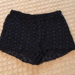 Zara black lace shorts